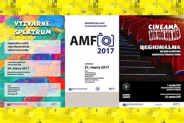 Regionálne kolá celoštátnych súťaží Cineama, AMFO a Výtvarné spektrum aj v Rožňave