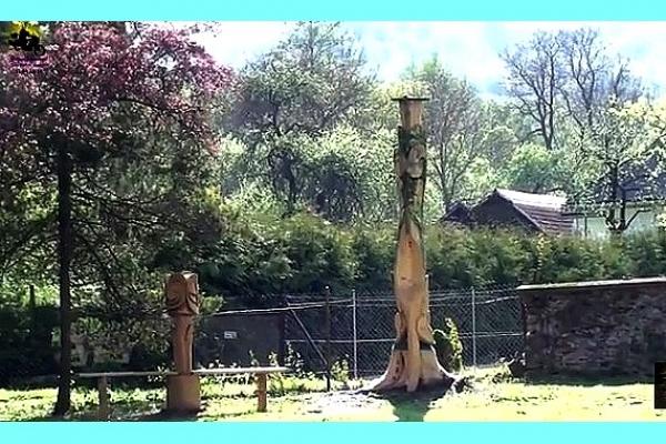 Suchý strom v Rochovciach poslúžil na umelecké dielo pri Dome smútku
