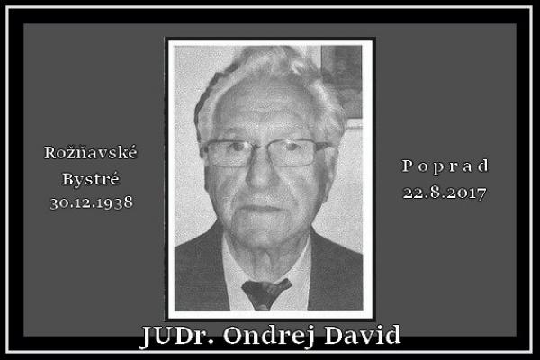 Nekrológ za bystränským rodákom Ondrejom Davidom