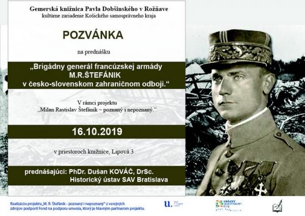 Milan Rastislav Štefánik – poznaný i nepoznaný v prednáške PhDr. Dušana Kováča, DrSc. z Historického ústavu SAV