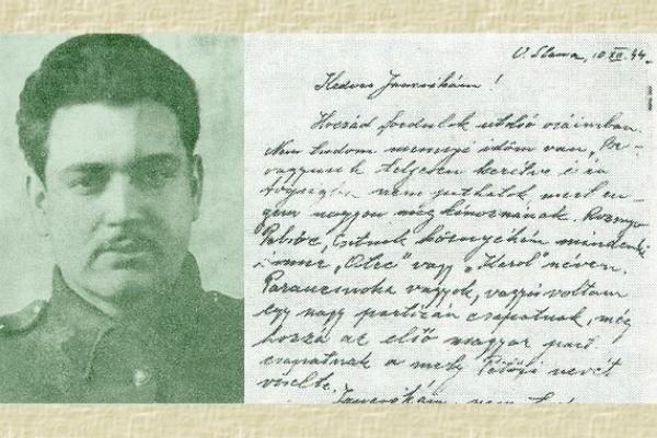 Čo napísal partizánsky veliteľ Karol Adler tesne pred jeho objavením fašistami v pivnici domu vo Vyšnej Slanej