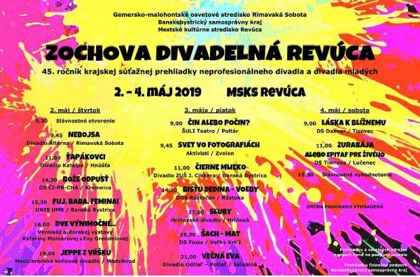 Na Zochovej divadelnej Revúcej sa v máji predstavia divadelné súbory z banskobystrického kraja