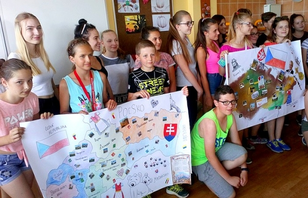Výprava zo ZŠ J. A. Komenského v Revúcej na návšteve u priateľov v Litovli