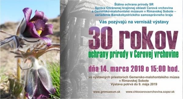 Tridsať rokov ochrany prírody v Cerovej vrchovine