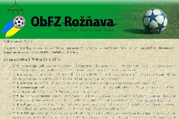 Úradná správa ObFZ Rožňava č. 28 / 2015-2016