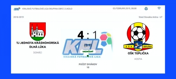 Futbalisti Krásnohorskej Dlhej Lúky si v KFL vybojovali postup do štvrtého kola